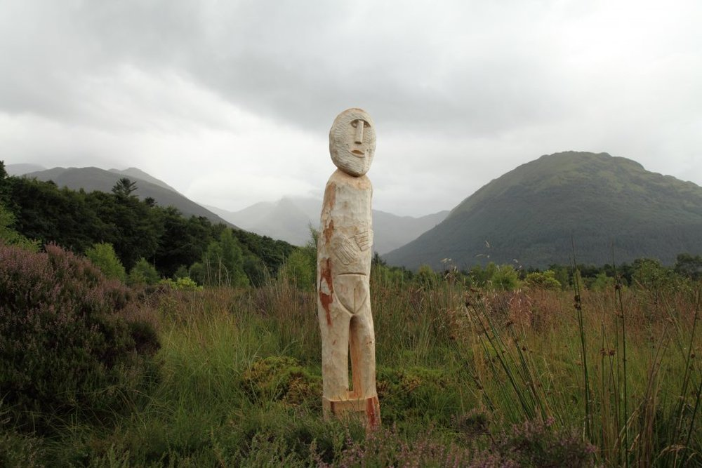 Replica of the Ballachulish Goddess - which was buried at the site