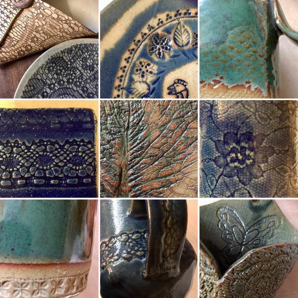 Only a few spaces left!– - 4 week courses:Soft slabbing and jewellery using imprinted clayCoil pots & scraffito slip decorationSaturday workshops:Monoprint jewelleryMajolica decorationSlip decorated wall hangingPinch & coiled planterAll courses are run in small groups from my studio in St. Anne's Bristol.