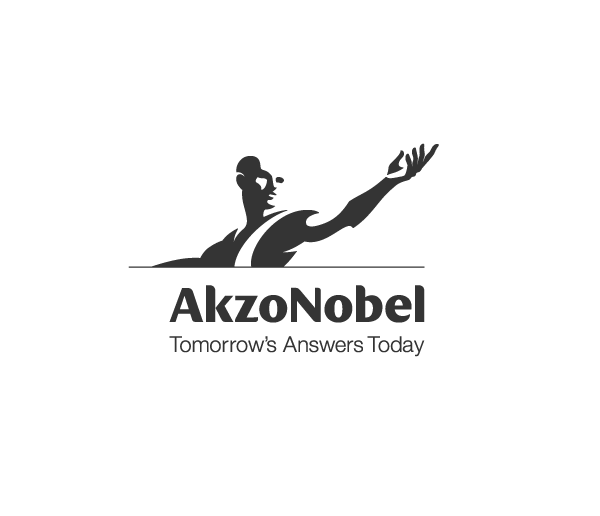 AkzoNobel logo in black and white.