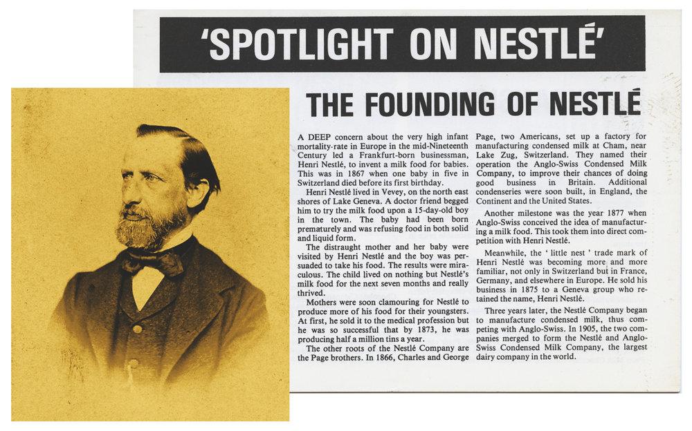 Henri Nestlé, the founder of Nestlé