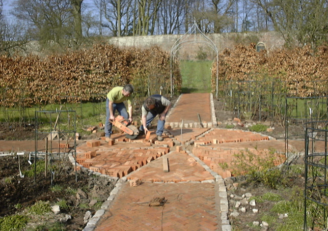 1999 – BRICK PATH UNDER CONSTRUCTION