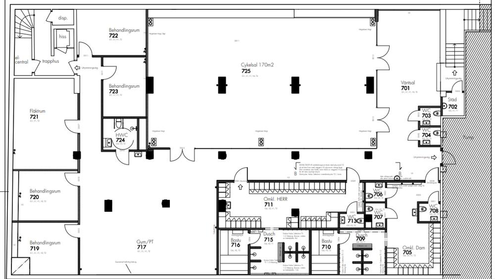 De prisbelönta arkitekterna hos Sandell Sandberg har designat Studio L'Echelon specifikt för oss.  Studion består av 3 våningar som tillsammans utgör över 660 kvadratmeter, varav huvuddelen på första våningen består av vårt cykellabb. Här hittar du 40 WattBikes med tre projektionsskärmar framför sig där profilen för träningspasset visas.  Det finns också ett antal mindre rum för naprapat, massage och sjukgymnastik och även en gymavdelning för rehab, löpning, rodd, styrketräning och personliga träning.