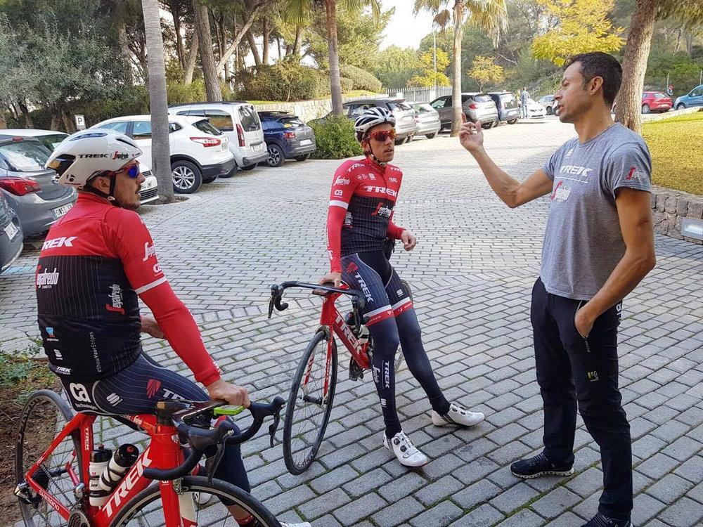 Mattias Reck är tränare för Trek Segafredo World Tour Team.