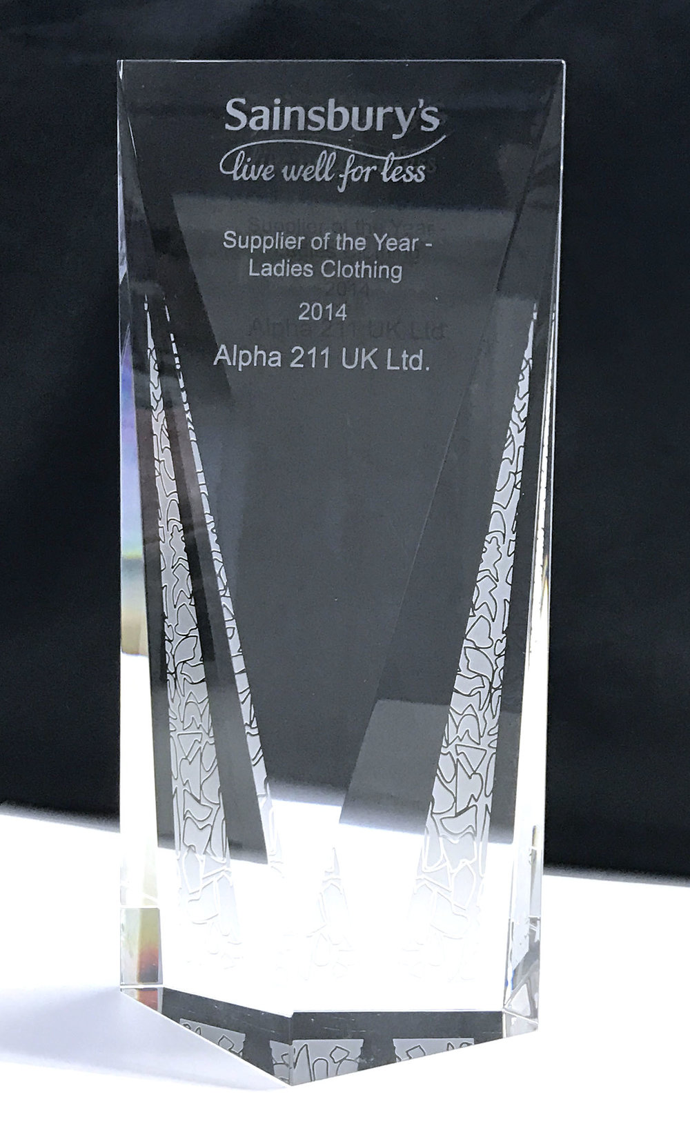 Supplier of the Year - Sainsbury's - Ladies Clothing 2014