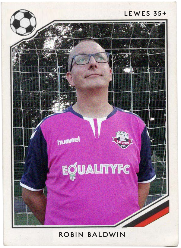 NAME : Robin Baldwin  POSITION : Goalkeeper  TEAM : AFC Wimbledon  FOOTIE MOMENT : Wimbledon going above MK in the League.