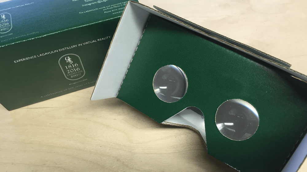 The Lagavulin Experience was made available on YouTube 360° with specially commissioned Google Cardboards.