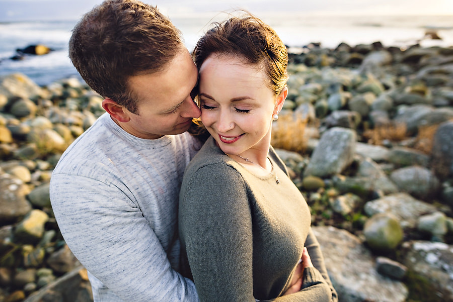 forelsket par fotografert på jæren