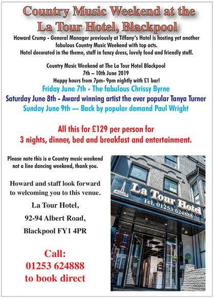 Country Music Weekend - Fri June 7th - Sun June 9th — La Tour Hotel