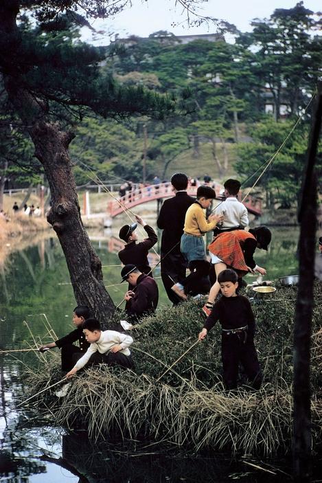 Children fishing in Tokyo, 1960 by ElliottErwitt