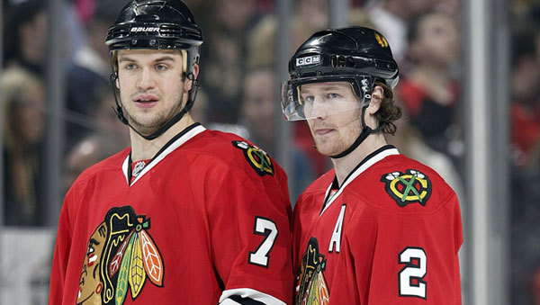 Duncan Keith and Brent Seabrook