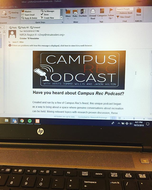 Big Thanks to Region 2 for the shout-out! #nirsa2018 #region2 #campusrecpodcast #campusrec