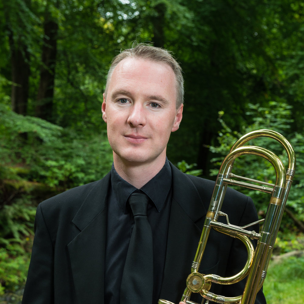 Ross Lyness - trombone - As a freelance trombonist Ross has worked in London, Barcelona, and across Ireland.He is currently principal trombone with the Wexford Festival Orchestra and travels extensively to work abroad, including the Cyprus Symphony Orchestra, where he has been guest principal trombone since 2010, the Hong Kong Sinfonietta, L'orchesta Nazionale della RAI, Torino, and the Royal Scottish National Orchestra.Ross has also played with the BBC Scottish Symphony Orchestra and the Orchestra of the Scottish Ballet.Alongside his playing commitments, Ross takes an active role in music education, having taught for several years at the City of Belfast School of Music and also at Methodist College, Belfast.