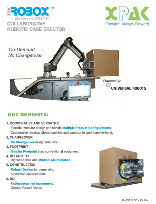 Collaborative Xpak Robox Robotic Case Erector Xpak Usa Packaging