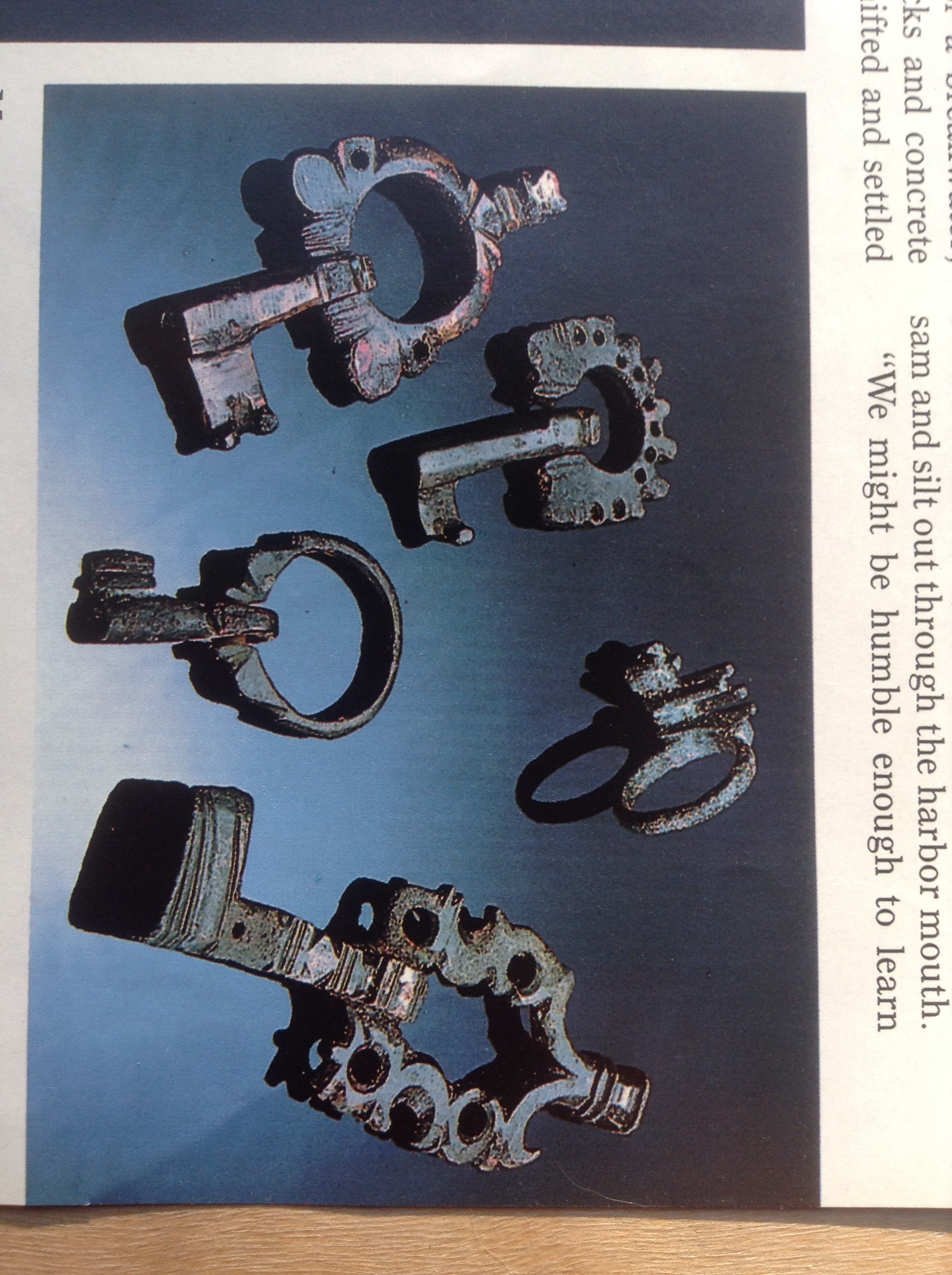 Ancient bronze keys from Caesarea