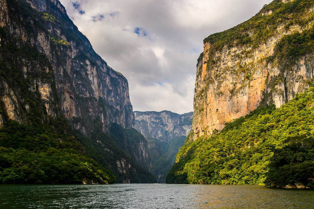 Rocks of Sumidero Canyon National Park, Chipas, Mexico.