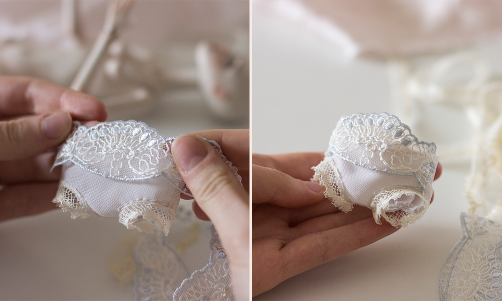 Making lingerie for a BJD by Nymphai Dolls