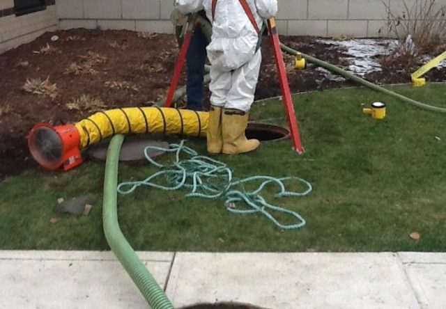 Hydro excavation can minimize lawn damage with sewer drain problems
