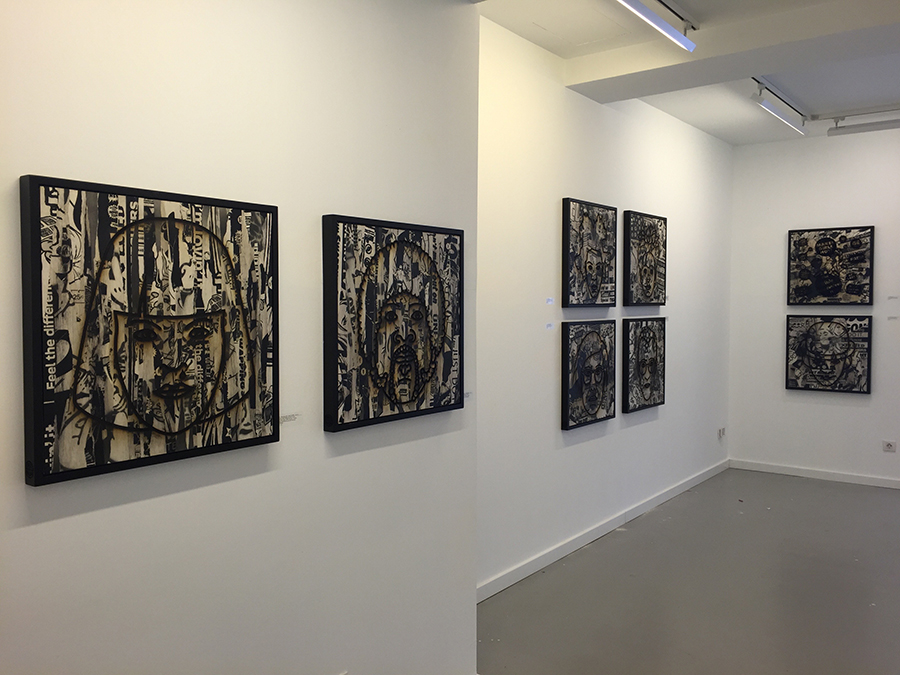 solo exhibition layers at 3punts galeria barcelona