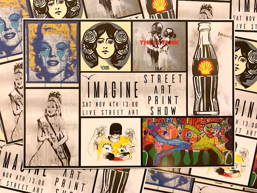 flyer street art print show