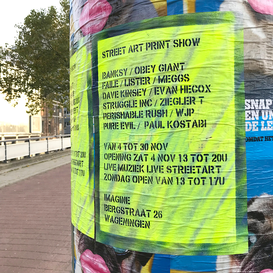 posters in the streets