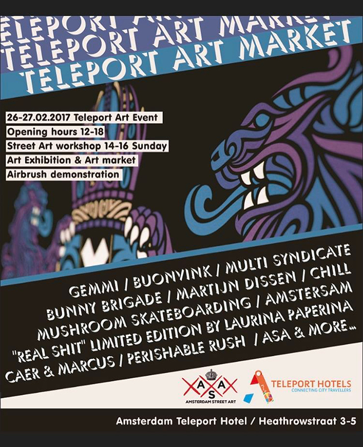 Amsterdam Street Art event at teleport hotel amsterdam