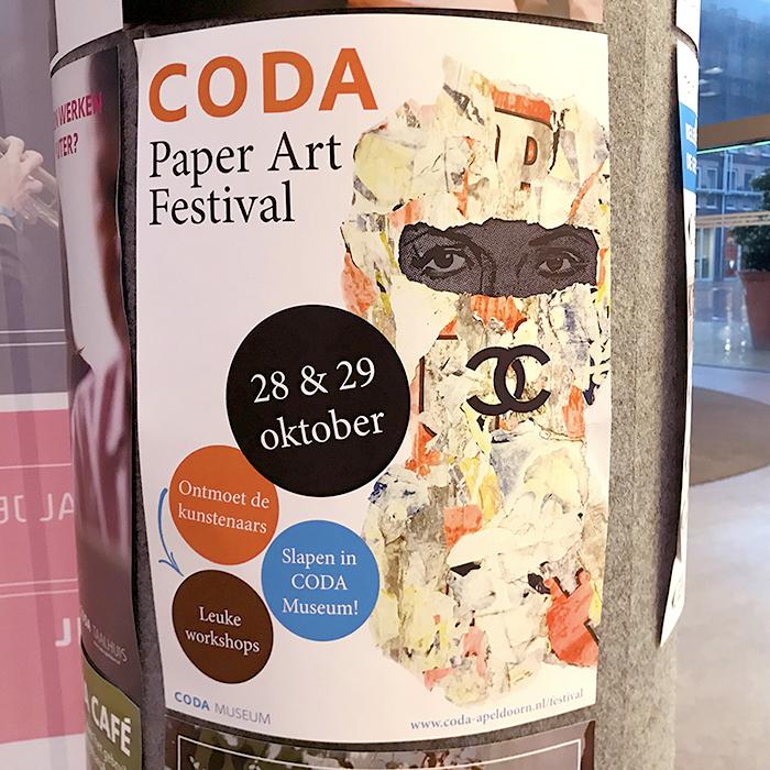 coda apeldoorn museum paper art flyer