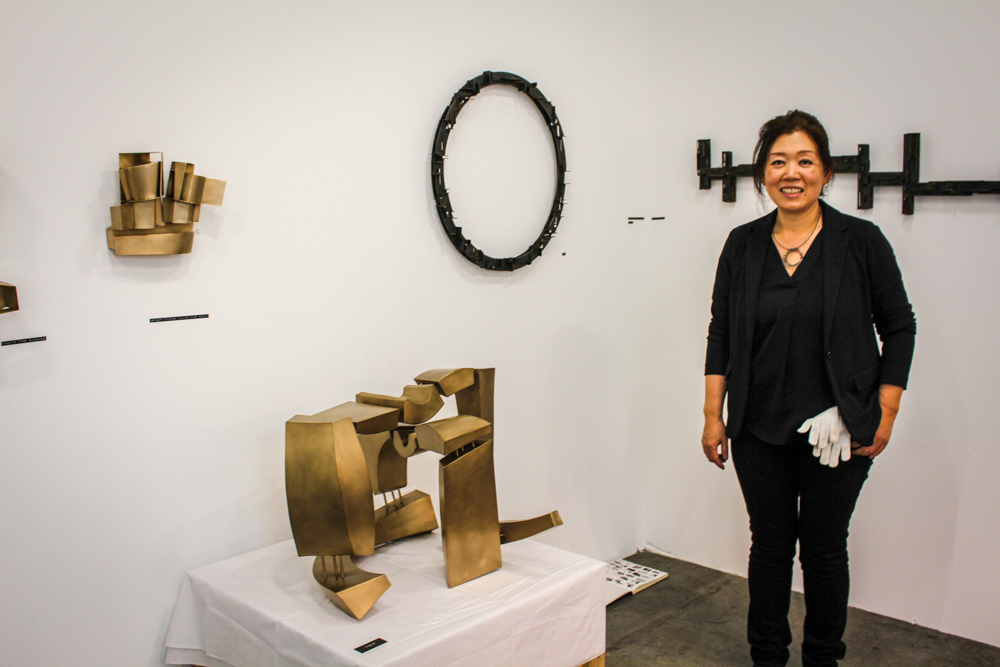 Yu Jean Choi's  beautiful display of sculpture and jewelry.