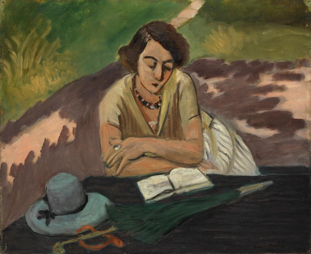Reading Woman with Parasol , Henri Matisse, 1921