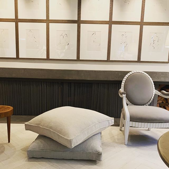 Everything about this project by Henry Brown Interiors is magnificent. We especially love how he used our Polli Sand Linen and Ceara Sea Shell Linen on the floor pillows. #genius