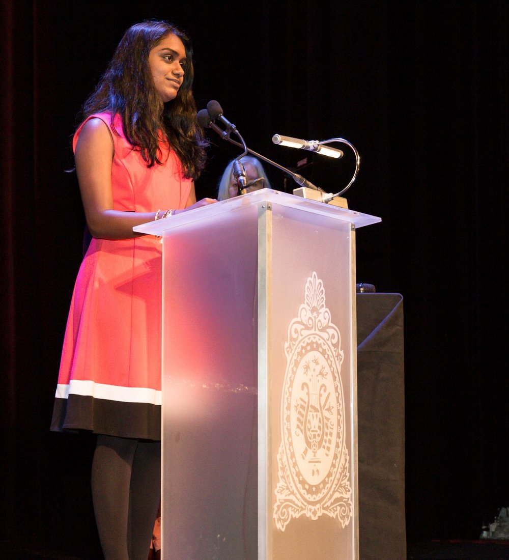 Acceptance Speech for Claes Nobel Academic Scholarship in Warner Theater, DC
