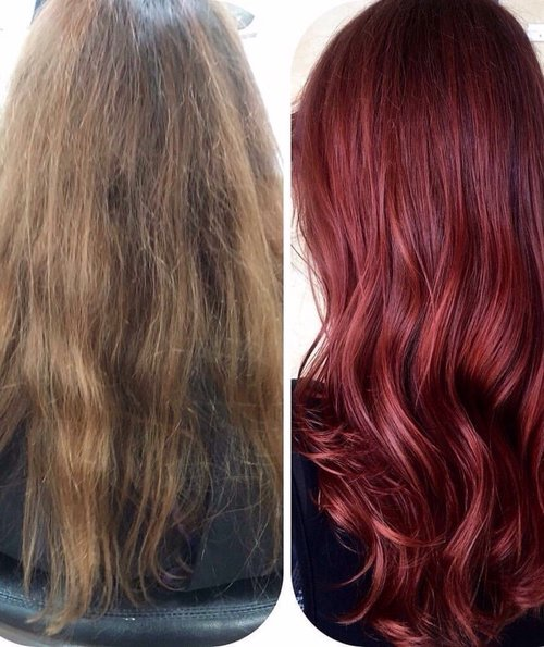 Drap to fab Ruby Red at Blondology Salon