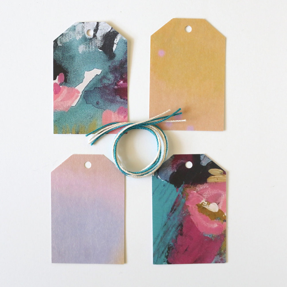 Diy Gift Tags From Greeting Cards Ashdel Studio