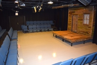 The Black Box Theatre - The lobby is an open entry and lounge with a box office, bar and concessions area. This is the main entrance to the Black Box Theater. The space is ideal for socializing and enjoying a beverage or snack before the show begins or during intermission, with direct access to a restroom.CAPACITY: Up to 90 peopleRATE: $30 an hour