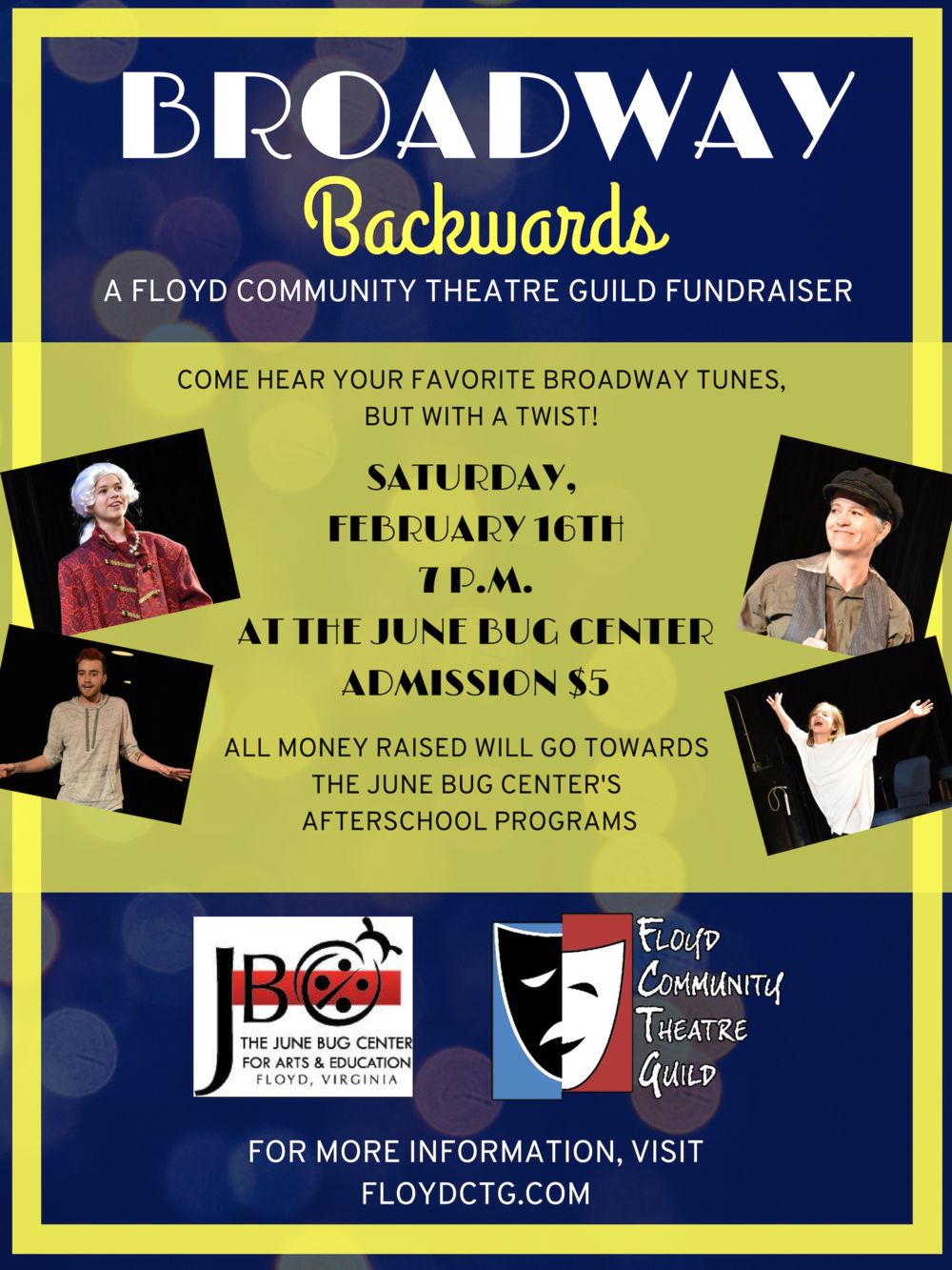 A Fundraiser by The Floyd Community Theatre Guild! - February 16th at 7pm