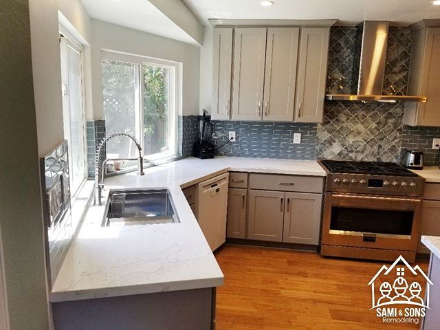 San Jose - the finish out come from a very old classic kitchen from early 1970s to a very modern kitchen in 2018.  You are not hiring a company, you are choosing a Family.