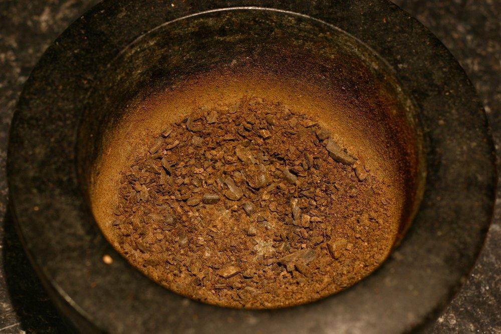 Wild acorn coffee, freshly ground by hand