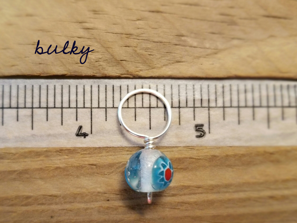 bulky size snag free glass bead stitch markers