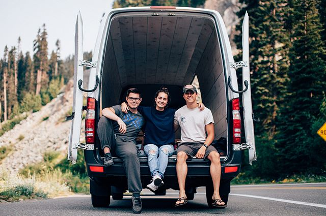 """A goal should scare you a little, and excite you a lot."" -Joe Vitale.  Introducing...Dwight 2.0! 🚐 My first home. It is nuts to see this dream come to life. I am beyond stoked to turn this into my home on the road🤙🏼Shoutout to these goons @cfizzer and @austintfischer for driving to Spokane with me to pick it up! ""You da best!"" -DJ Kahled. 📷 by @austintfischer  #vanlife #theadventuresofdwight"