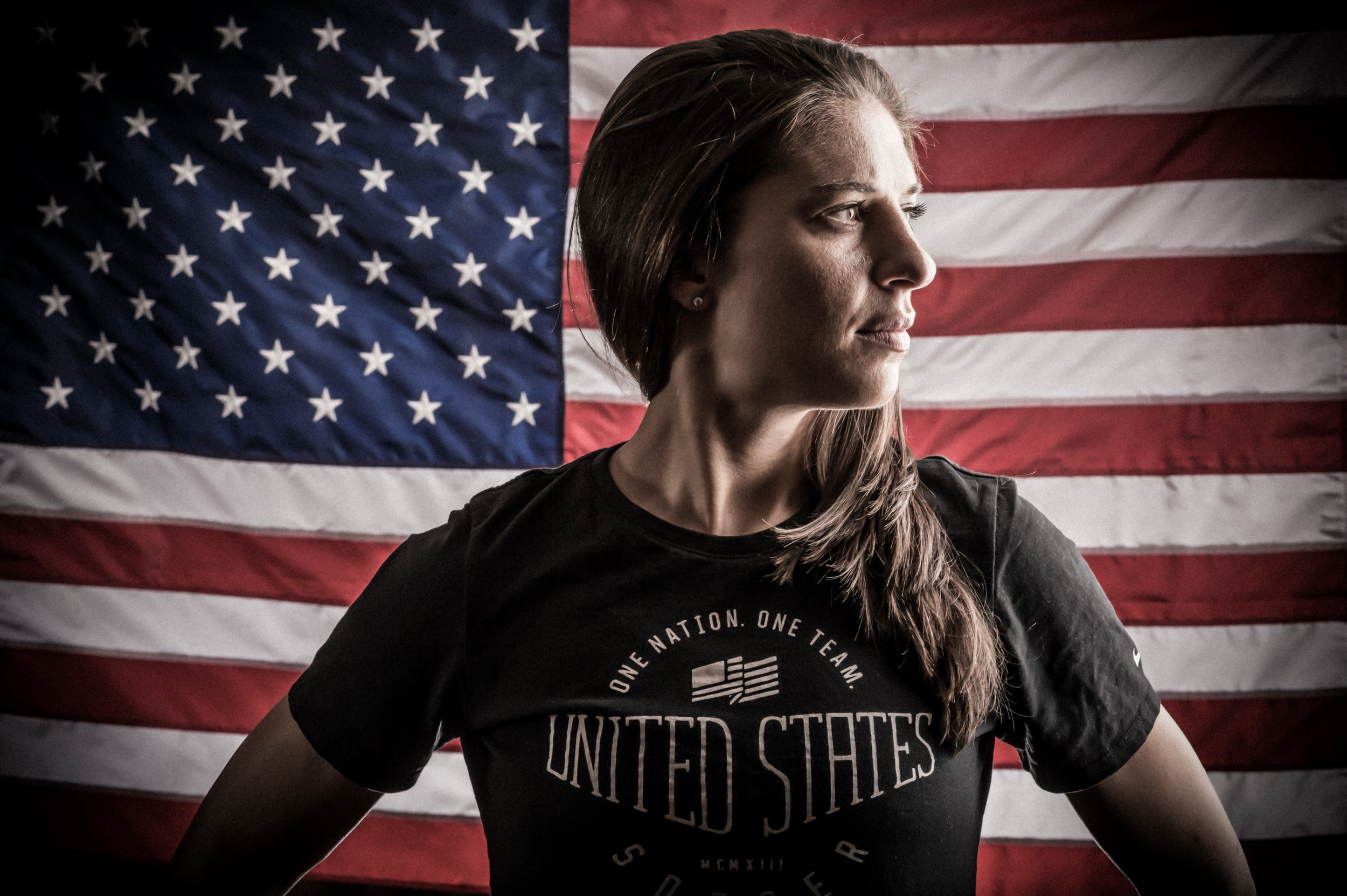 Carl Lloyd, USWNT 2015 portrait shoot, NYC.