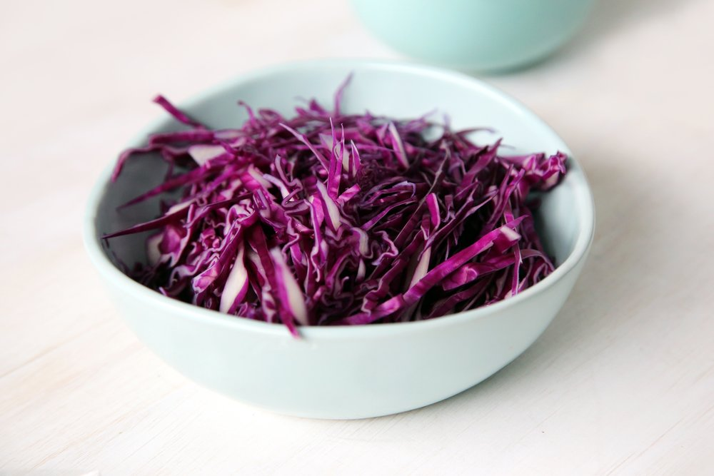 Shredded cabbage is another prepped favorite!