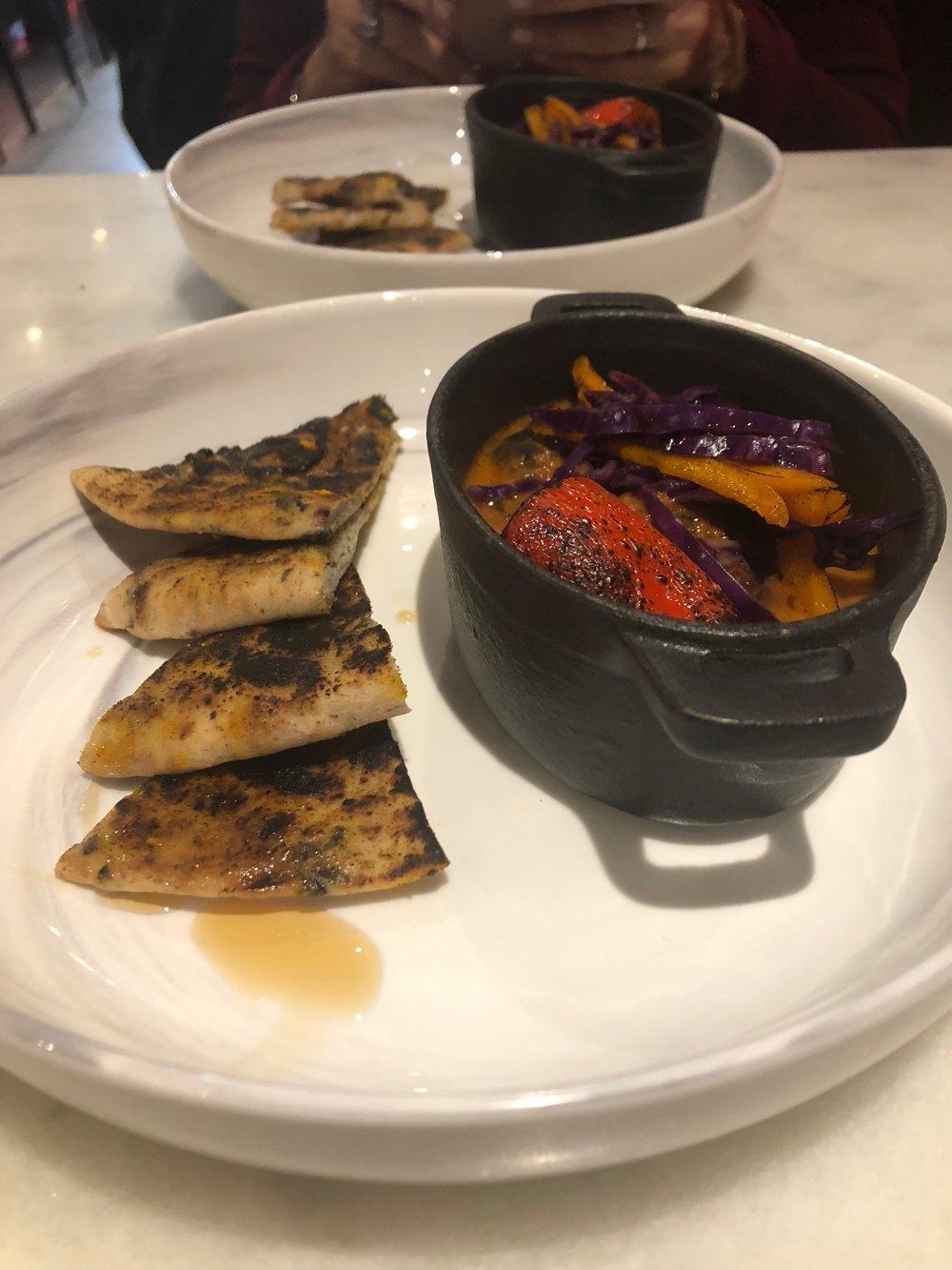 Calamari and Roasted Vegetables