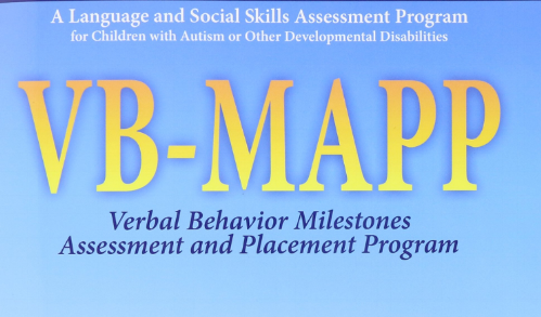 VB-MAPP - VB-MAPP is both an assessment and curriculum that focuses on increasing verbal repertoires, play skills, social skills, and decreasing barriers to learning.