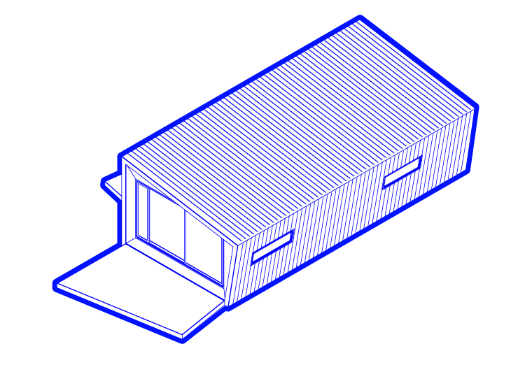 Prefabricated tiny home upgrade illustration