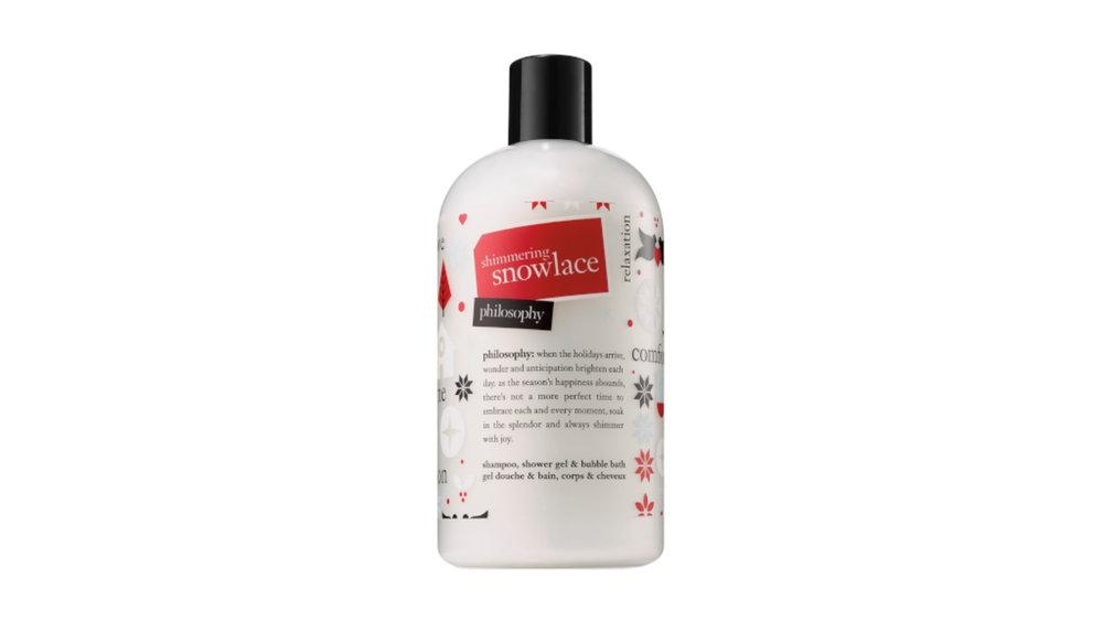 Philosophy Shimmering Snow lace Shower Gel $30
