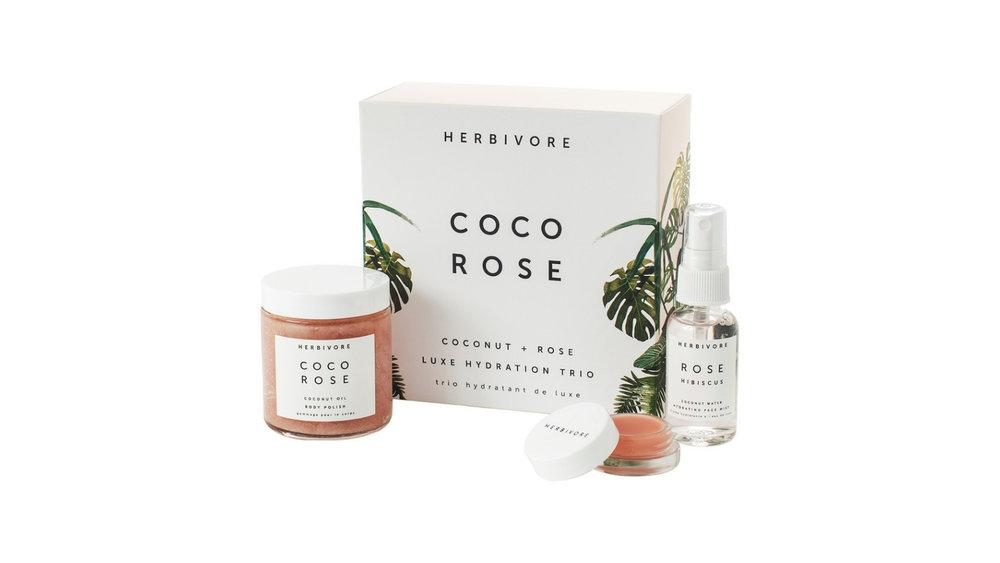 Herbivore Botanticals Coco Rose Luxe Hydration Trio Set $49