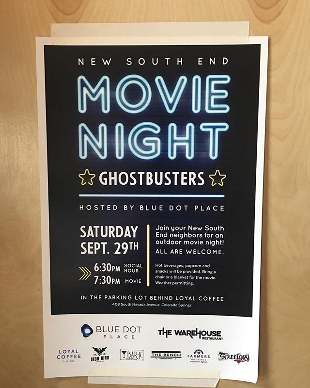 Tonight at 6:30 is the new south end movie night! Everyone welcome & there will be snacks! Come on down! In the parking lot behind loyal • • • • • • • • #coloradosprings #coloradospringsliving #coloradoliving #coloradospringslife #coloradosprings #coloradospringsco #csco  #coloradolifestyle #downtowncoloradosprings #my_cosprings #loyalcoffee #newsouthend #movienight