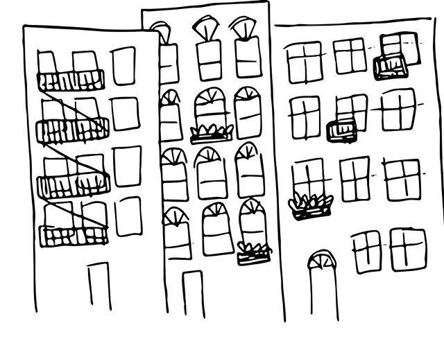 City doodles ✉️