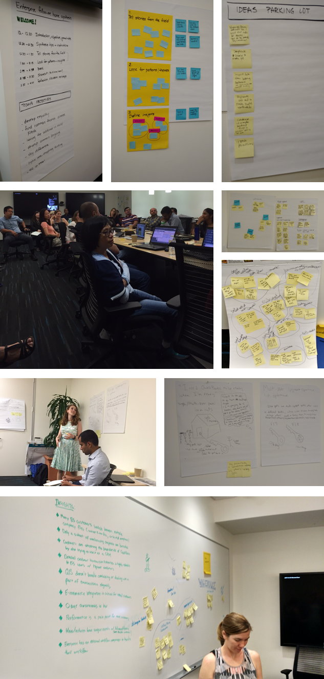 Interdisciplinary team came together to synthesize customer interviews