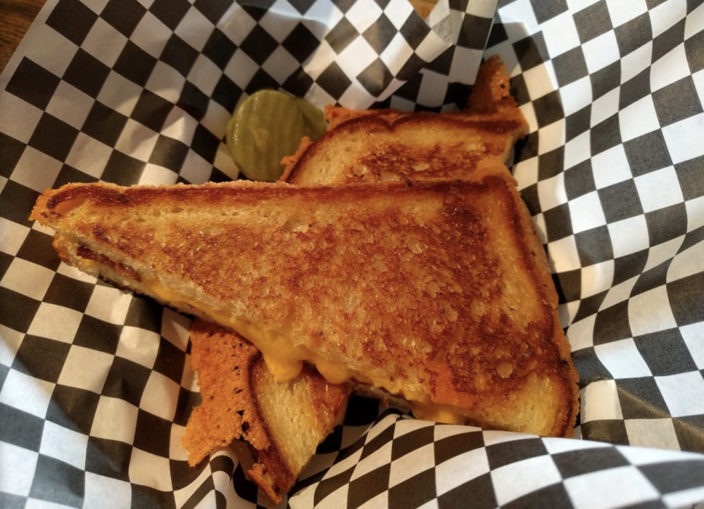 Life-changing grilled cheese with signature mudflaps