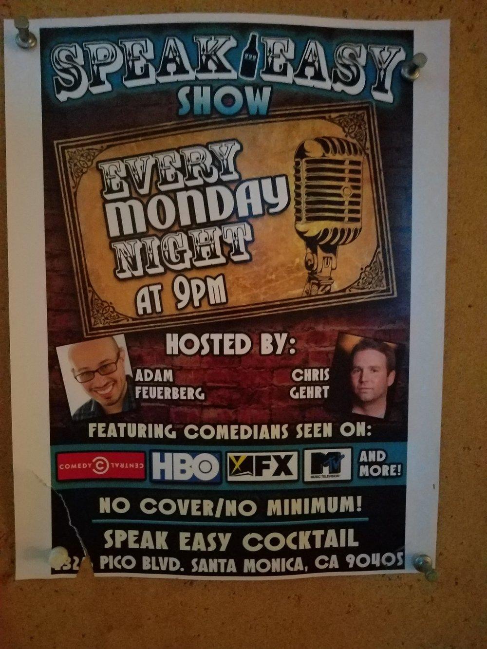 Comedy Night 9 pm - 11 pm